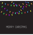 Glowing Christmas Lights Xmas Merry Christmas vector image
