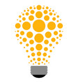 abstract lightbulb icon vector image vector image