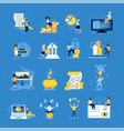 accounting doodle icons set