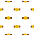 belt with gold oval shaped buckle pattern flat vector image