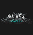 black friday banner with 3d render abstract vector image vector image