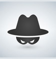 black icon of anonymous spy agent icon vector image