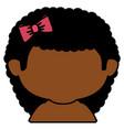 black little girl shirtless character vector image