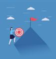 business woman climb mountain vector image vector image