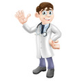 cartoon doctor vector image