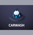 carwash isometric icon isolated on color vector image vector image