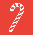 christmas candy cane glyph icon new year vector image vector image