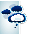 Cloud Thought Bubble vector image vector image