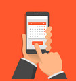 concept mobile application for calendar one vector image vector image