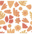 contemporary leaves seamless pattern hand draw vector image vector image