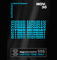 cyber monday typography banner poster or flayer vector image vector image