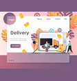 delivery website landing page design vector image vector image