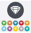 Diamond sign icon Jewelry symbol Gem stone