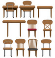 different designs of chairs and tables vector image