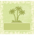 Exotic background palm and frame vector image vector image
