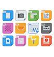 file types icons and formats labels