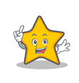 Finger star character cartoon style