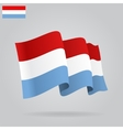 Flat and waving Luxembourg Flag vector image vector image