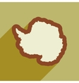Flat web icon with long shadow map Arctic vector image vector image
