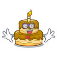 geek birthday cake character cartoon vector image vector image