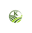 green project solution center initial k vector image vector image