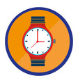 hand watch isolated icon vector image vector image