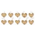 heart shape floral pattern label frame tag set vector image vector image