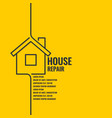 home repair the original poster in a flat linear vector image