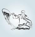 Ink sketch kayakers