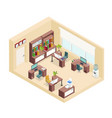 isometric office workplace concept vector image vector image