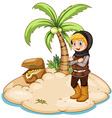 Knight and island vector image vector image