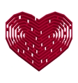 Labyrinth in a shape of heart vector image vector image