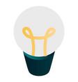 light bulb icon isometric style vector image