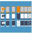 line icon set communication symbols collection vector image