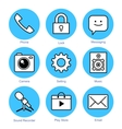line icons set Smartphone vector image vector image