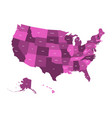 map of united states of america usa in four vector image vector image