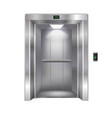 modern elevator on white background vector image