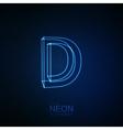Neon 3D letter D