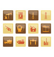 oil and petrol industry icons vector image