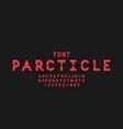 particle font alphabet vector image