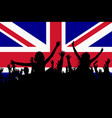people silhouettes celebrating great britain vector image vector image