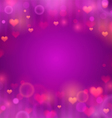 Purple background with hearts vector image