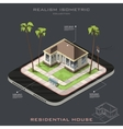 Realistic isometric House on Earth icon vector image vector image