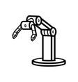 robotic arm vector image vector image