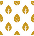 seamless foliage pattern gold leaf vector image vector image