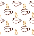 Seamless pattern of steaming cup of coffee vector image vector image