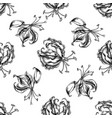 seamless pattern with black and white gloriosa vector image vector image
