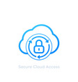 secure cloud access icon on white vector image