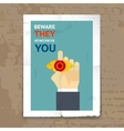 Security Poster with Surveillance Concept vector image vector image