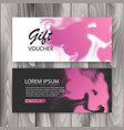 set of horizontal gift cards with ink background vector image